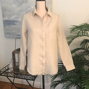 Cloth & Stone 100% Linen Button Down Blouse